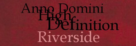 Riverside - Anno Domini High Definition