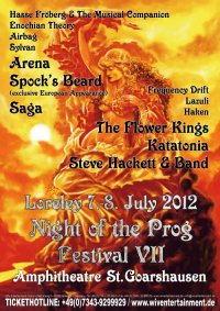 Night Of The Prog VII Festival Poster