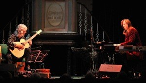 Gordon Giltrap & Oliver wakeman on the Ravens & Lullabies tour 2012 ~ image courtesy of Oliver Wakeman's website