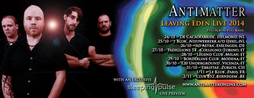 Antimatter will perform their landmark album 'Leaving Eden' in full